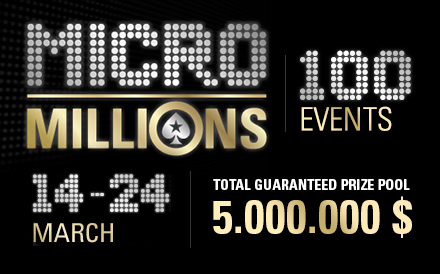 PokerStars Micromillions is Underway, 5 Million Combined Guaranteed Prize Pool!